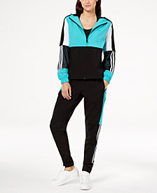 adidas Colorblocked Mesh-Trimmed Wind Jacket & Pants