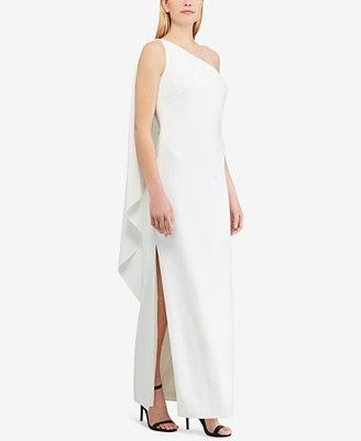 Crepe One Shoulder Gown by Lauren Ralph Lauren