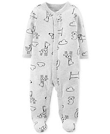 Carter's Baby Boys & Girls Animal-Print Footed Cotton Coverall