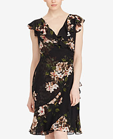 Lauren Ralph Lauren Floral-Print Georgette Dress, Regular & Petite Sizes