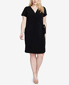 RACHEL Rachel Roy Trendy Plus Size Wrap Dress