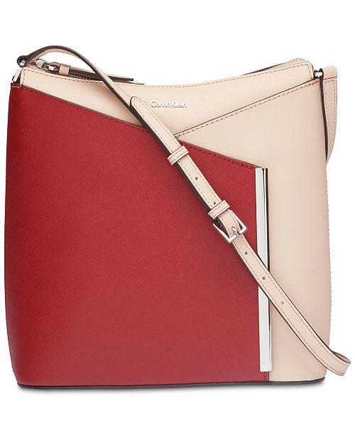c752576a8a0d Calvin Klein Mara Saffiano Leather Crossbody & Reviews - Handbags ...