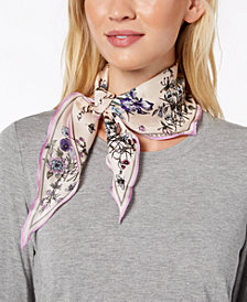 Vince Camuto You're The Bees Knees Silk Bandana Diamond Scarf