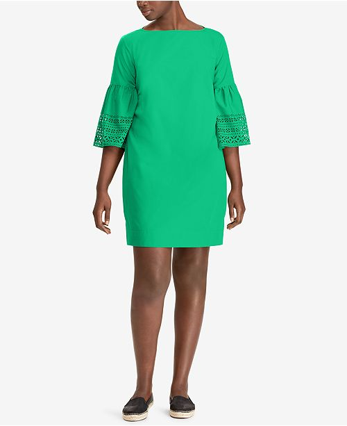 Lauren Ralph Lauren Plus Size Bell-Sleeve Shift Dress ...
