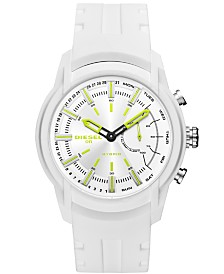 Diesel ON Men's Armbar White Silicone Strap Hybrid Smart Watch 44mm