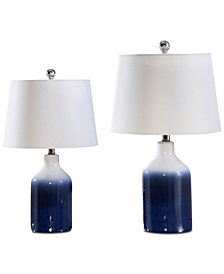 Abbyson Living Set of 2 Evia Blue Table Lamps