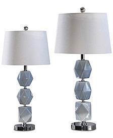 Set of 2 Catalonia Gray Table Lamps