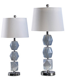 Abbyson Living Set of 2 Catalonia Gray Table Lamps