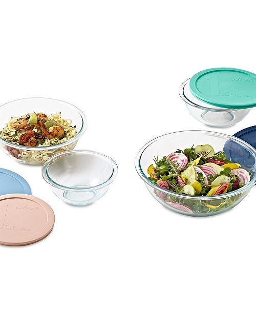 Pyrex 8-Pc. Mixing Bowl Set & Reviews - Bakeware - Kitchen - Macy's