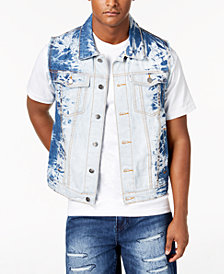 LRG Men's Kingston Classic-Fit Bleached Cutoff Denim Vest
