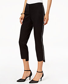 Alfani Petite Step-Hem Ankle Pants, Created for Macy's