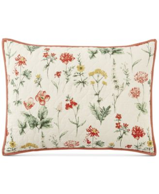 Washed Floral 100% Cotton Standard Sham, Created for Macy's