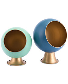 Zuo Round Metal Planter Collection