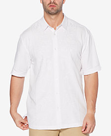 Cubavera Men's Embroidered Panel Shirt