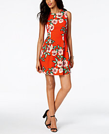 Jessica Howard Petite Floral-Print A-Line Dress