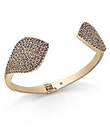 I.N.C. Gold-Tone Crystal Cuff Bracelet, Created for Macy's