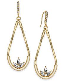 I.N.C. Gold-Tone Crystal Elongated Drop Earrings, Created for Macy's