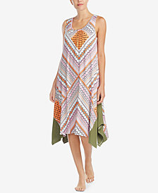 Ellen Tracy Sleeveless Asymmetrical-Hem Nightgown