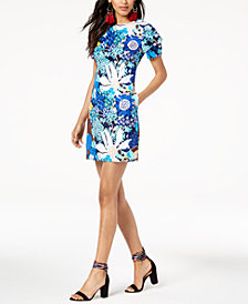 Trina Turk Printed Square-Back Sheath Dress