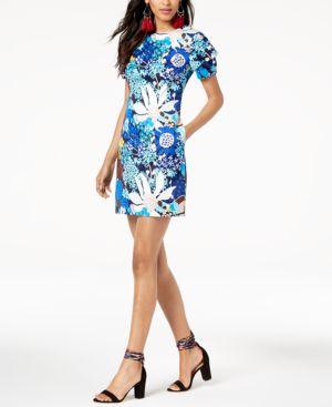 Trina Turk Printed Square-Back Sheath Dress 6549216