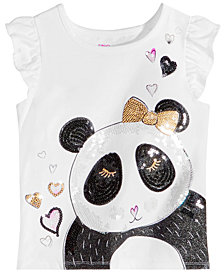 Epic Threads Toddler Girls Sequin Panda T-Shirt, Created for Macy's