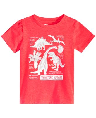Little Boys Dino-Print T-Shirt, Created for Macy's