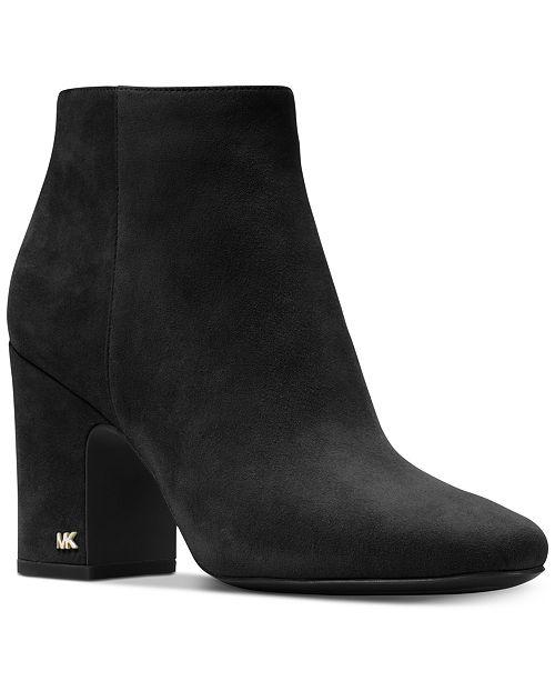 29d22a943c18 Michael Kors Women s Elaine Block Heel Booties   Reviews - Boots ...