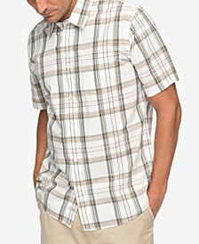 Quiksilver Men's Waterman Acotz Lines Yarn-Dyed Plaid Pocket Shirt