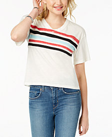 Ultra Flirt By Ikeddi Juniors' Striped Football T-Shirt