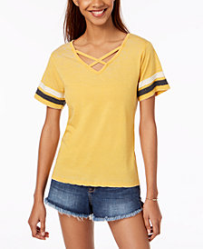 Ultra Flirt by Ikeddi Juniors' Crisscross Football T-Shirt
