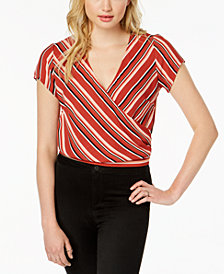Ultra Flirt by Ikeddi Juniors' Striped Wrap Top