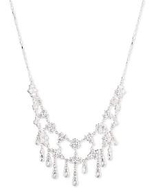 """Carolee Silver-Tone Cubic Zirconia 16"""" Collar Necklace"""