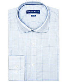 Vince Camuto Men's Slim-Fit Comfort Stretch Topaz/Blue Check Dress Shirt