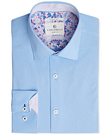 Con.Struct Men's Slim-Fit Stretch Solid Dress Shirt, Created for Macy's