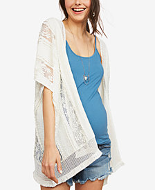Motherhood Maternity Lace Kimono Blouse