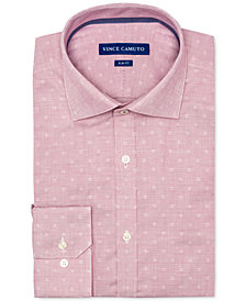 Vince Camuto Men's Slim-Fit Comfort Stretch Coral Dobby Dress Shirt