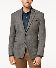 Lauren Ralph Lauren Men's Classic-Fit Ultraflex Stretch Black/White Herringbone Wool Sport Coat