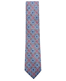 Tasso Elba Men's Medallion Linen Tie, Created for Macy's