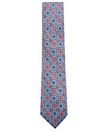 Tasso Elba Men's Medallion Linen Tie, Created for Macy's