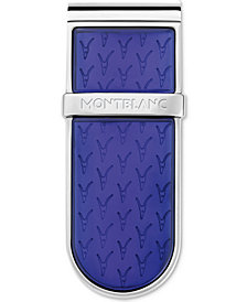 Montblanc Men's Le Petit Prince Stainless Steel & Blue Lacquer Money Clip
