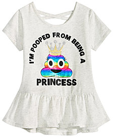 Happy Threads Little Girls Crisscross Strap T-Shirt