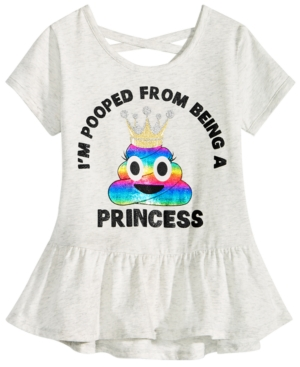 Happy Threads Little Girls Crisscross Strap TShirt