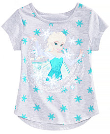 Disney Little Girls Elsa Snowflake T-Shirt