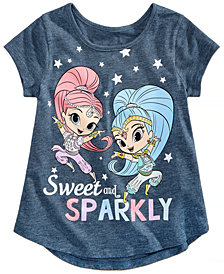 Nickelodeon Little Girls Sweet & Sparkly Cotton T-Shirt