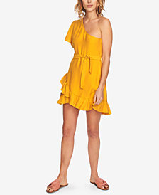 1.STATE One-Shoulder Ruffled Dress