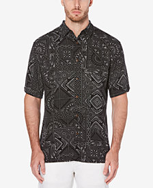 Cubavera Men's Big & Tall Tile Print Shirt