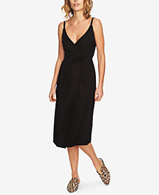 1.STATE Spaghetti-Strap Wrap Dress