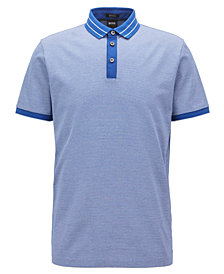 BOSS Men's Regular/Classic-Fit Micro-Pattern Cotton Polo