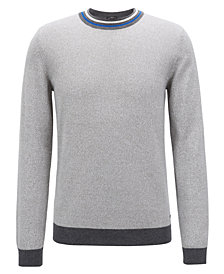 BOSS Men's Slim-Fit Cotton Sweater
