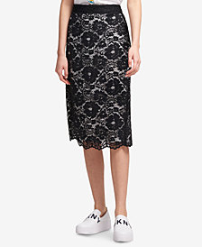 DKNY Lace Pencil Skirt, Created for Macy's